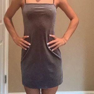 casual/formal stone blue velvet dress, worn once